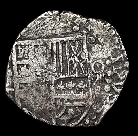 Ch C / Potosí, Macuquina 8 Reales 1630-1639 Plata Km19