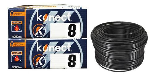 Imagen 1 de 2 de Cable Electrico Cca Konect Calibre 8 Negro 100 Metros 2 Pzs