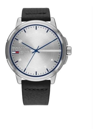 Relógio Tommy Hilfiger Masculino Couro Preto