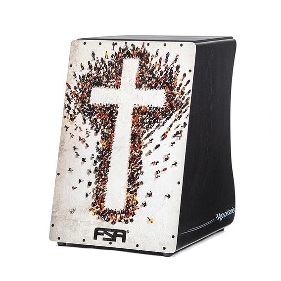Cajon Eletrico Fsa Gospel Series Captação Dupla Xlr Cores