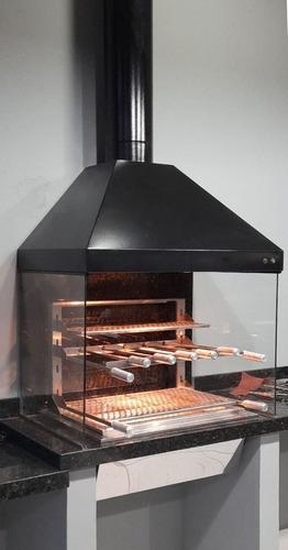 Churrasqueira Gourmet  M. C/ Exaustor Aço Galvanizado Preto