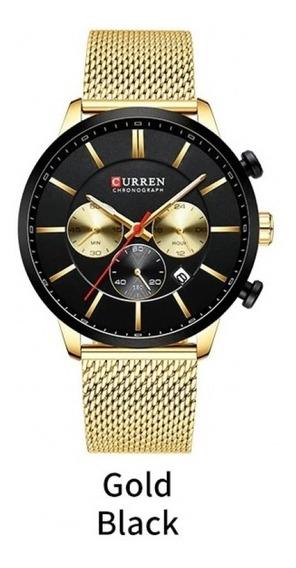 Relógio Masculino Curren 8340 + Caixa Presente Acrílica