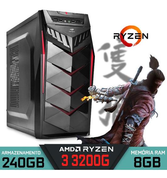 Computador Gamer Ryzen 3 3200g Ram 8gb Ssd 240gb Rx 570 4gb