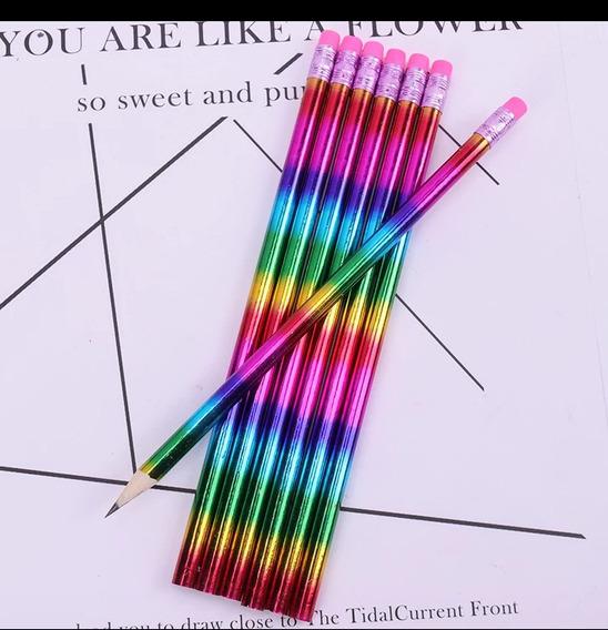 Lápis De Escrever Holográfico, 2un Por Compra
