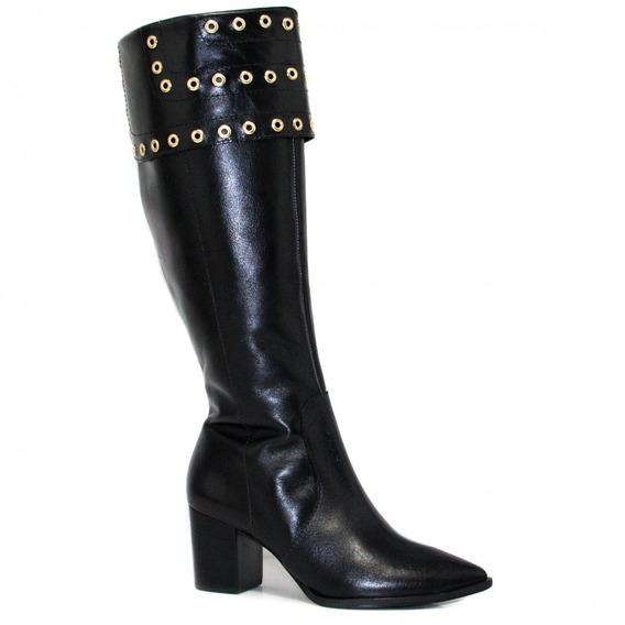 Bota Zariff Shoes Montaria Em Couro Zíper 1390601