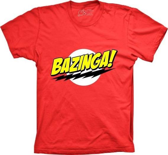Camiseta Bazinga Big Bang Theory Tamanhos Especiais Cores