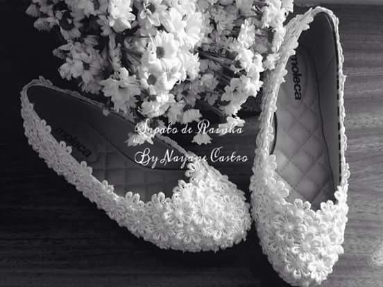 Sapatilha Noiva/casamento Pérolas E Grippir