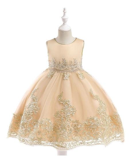 Vestido De Festa Infantil Luxo Daminha Batizado Princesa