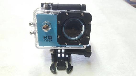 Câmera Hd Dv 1080p Nova Prova Dagua Sem Bateria