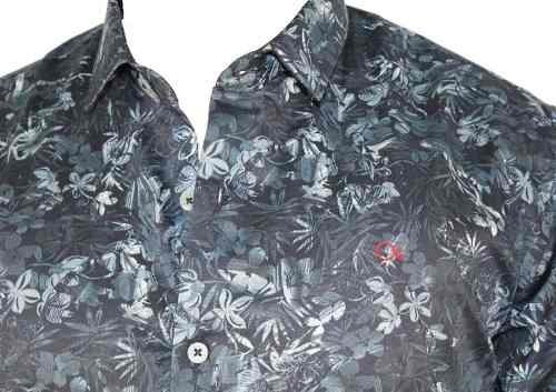 Camisa Ogochi Masculina Social Estampada Marinho 001418732