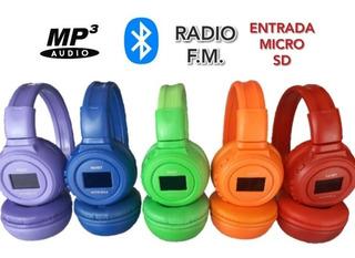 Audífonos, Bluetooth / Stereo Mp3, Aux Radio Fm / 18(verdes)