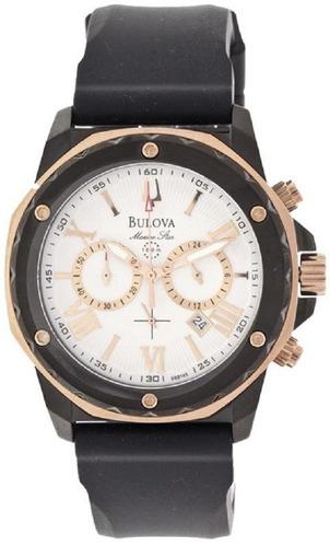 Relógio Bulova Masculino Marine Star Wb30873b Preto Rose