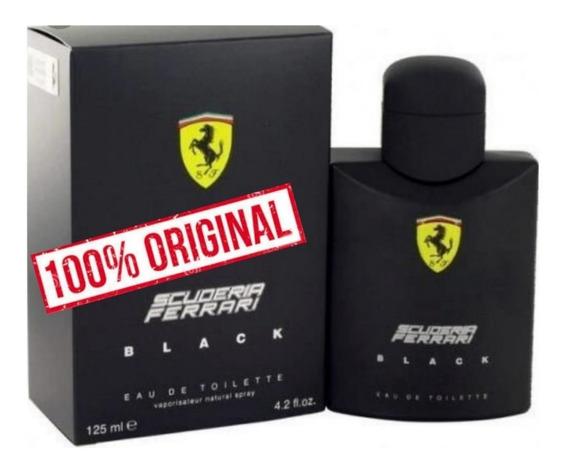 Perfume Importado Ferrari Black Eau De Toilette
