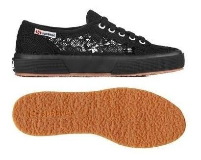Zapatillas Superga Macrame 2750 Negras