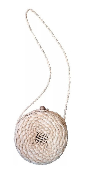 15 Bolsa De Palha Natural Circol Bag Redonda