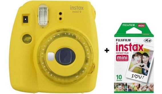 Câmera Instantânea Fujifilm Instax Mini 9 - Amarelo Banana