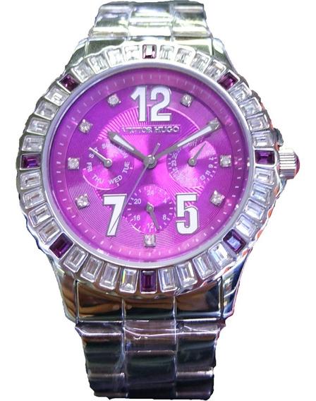 Relógio Victor Hugo Mostrado Roxo - Vh10008lss/15m
