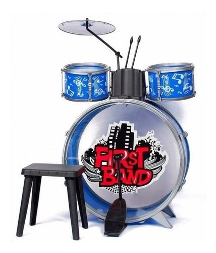 Batería Musical Para Niños Azul Faydi Mejor Precio!