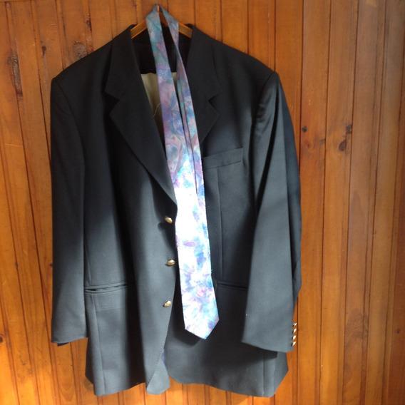 Conjunto Saco Azul Y Pantalón Beige T.58 1 Postura Imperdibl