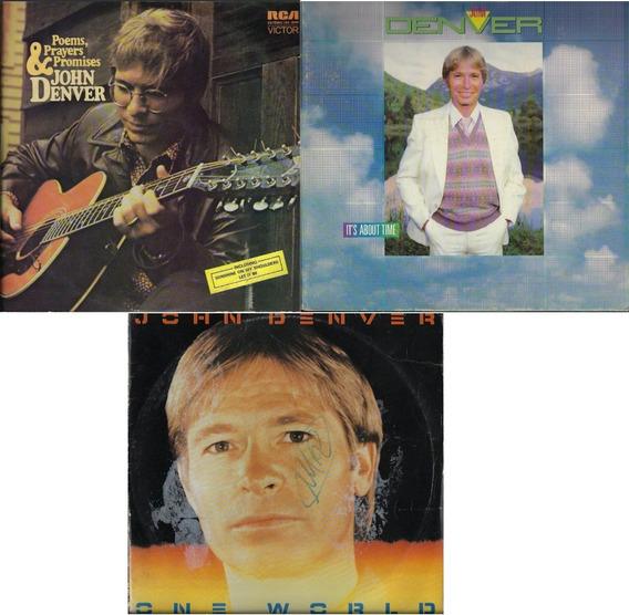 3 Discos De Vinil Lp John Denver Diferentes