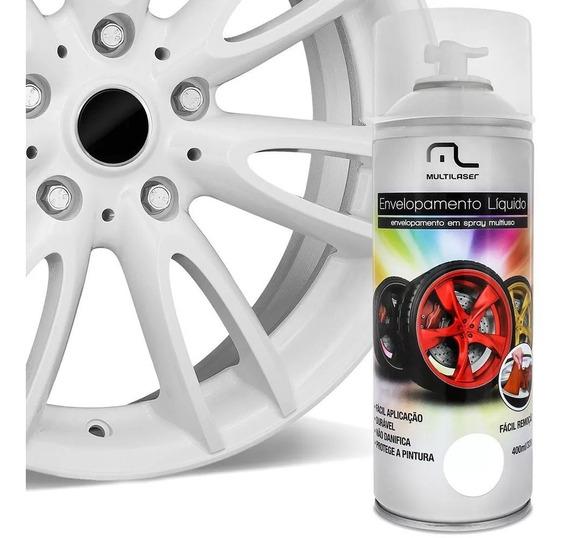 Spray Envelopamento Liquido Branco Fosco Multilaser Au421