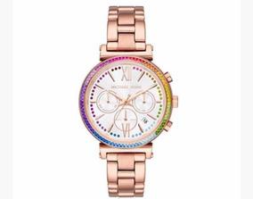 Michael Kors Reloj De Dama Sofie Rose Gold Mk6577 Original.