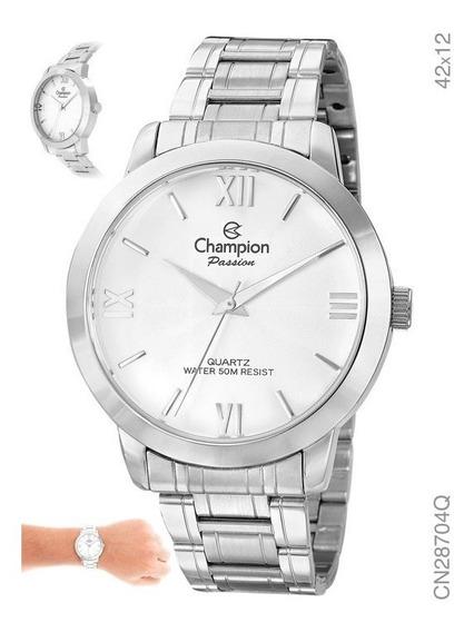 Relógio Feminino Champion Prata Algarismo - Grande