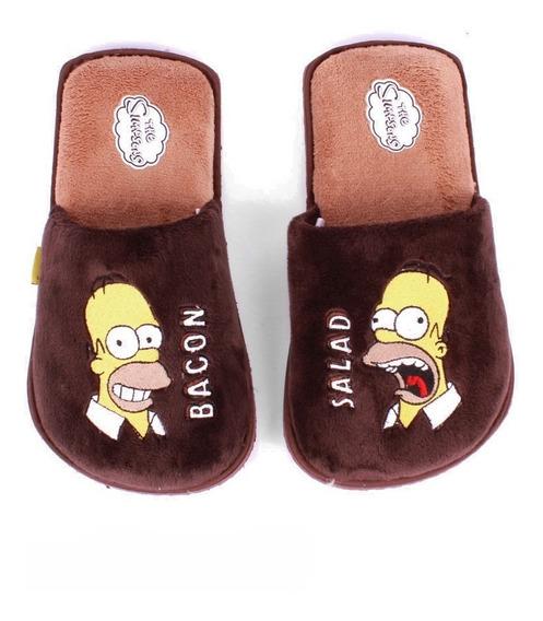 Pantufla Para Hombre Los Simpson De Homero Simpson Happy