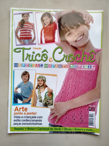 Revista Tricô E Crochê 2 Infanto Juvenil Roupas Bolsas D435