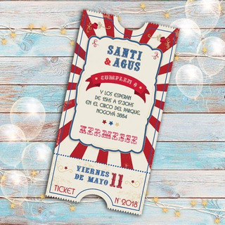 Tarjetas Cumpleaños Kermesse En Mercado Libre Argentina
