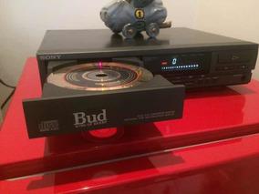 Cd Player Sony Single Cdp-m35, Perfeito Estado *leia
