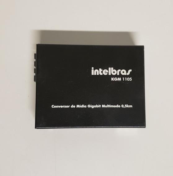 Conversor De Mídia Intelbras Kgm 1105 Gigabit Multimodo