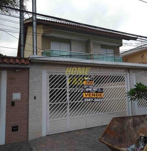 Sobrado Com 3 Dormitórios À Venda, 140 M² Por R$ 690.000,00 - Jardim Santa Francisca - Guarulhos/sp - So0345