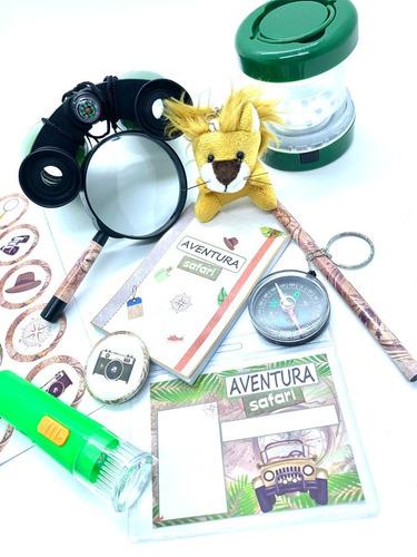 Imagem 1 de 8 de Kit Aventura Safari Explorador Lanterna Bussola Binoculo