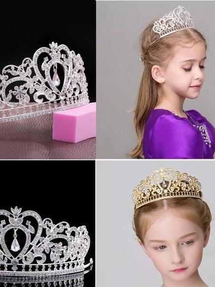 Acessorio Coroa Tiara Criança Infantil Noiva 15anos Prata