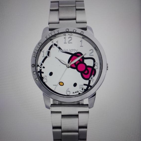 Relógio De Pulso Feminino Hello Kitty Inteiro De Aço: