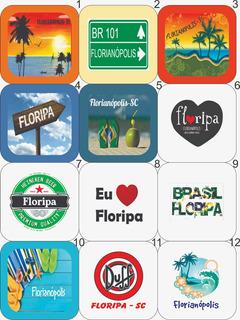 10 Bottons Imã Quadrado 5x5 Florianópolis Santa Catarina