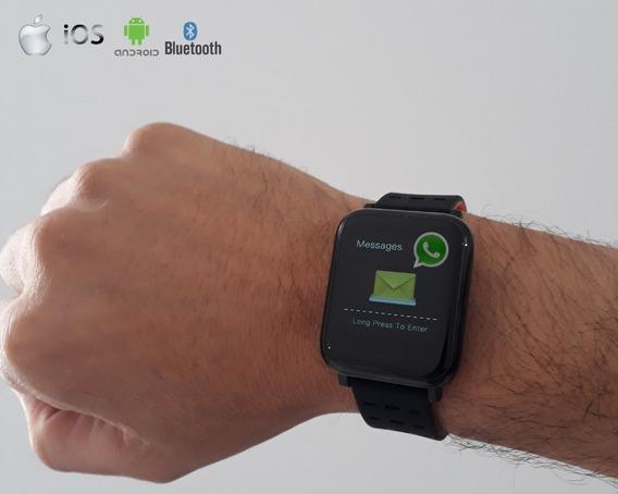 Relógio Social Digital Smartwhatch Bluetooth Android Ios Toq