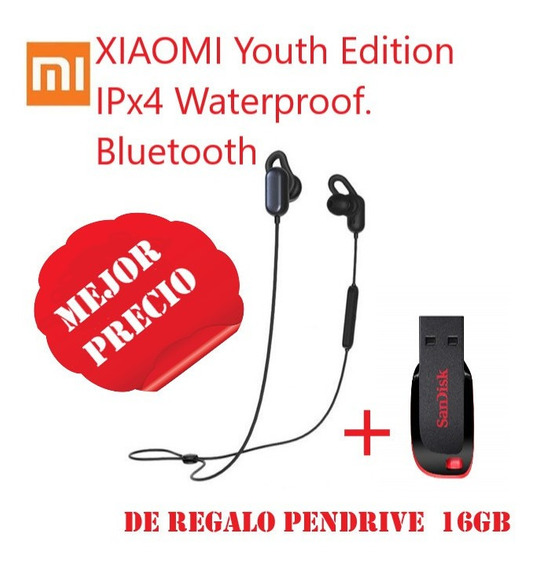 Audífonos Xiaomi Mi Sport Bluethooth+pendrive 16gb**35v**