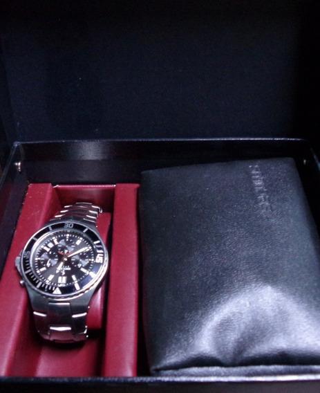 Relógio Seculus Aço 17069g0 Cronógrafo Feminino + Acessórios