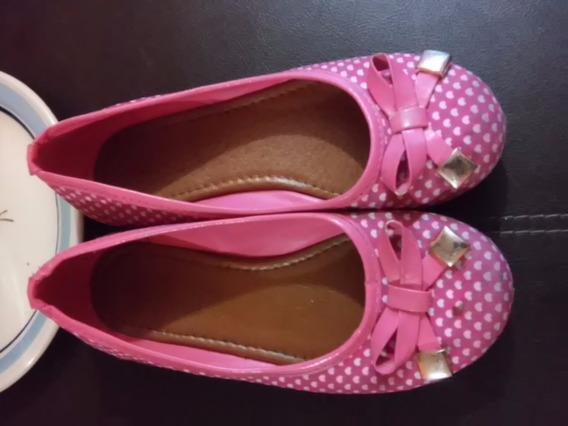 Zapatos,balerinas Niña Talla 19 1/2 Fiusha Corazones
