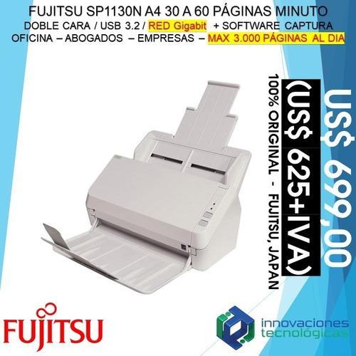 Imagen 1 de 3 de Scanner Escáner Documentos Fujitsu Sp1130n Dúplex 30/60 Ppm