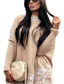 Blusa Ponche Kimono Feminino Casaco Frio Inverno