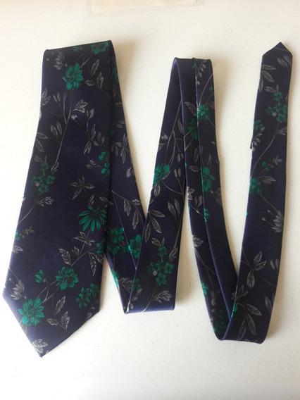 Corbata Color Azul Estampado Floral Corb352