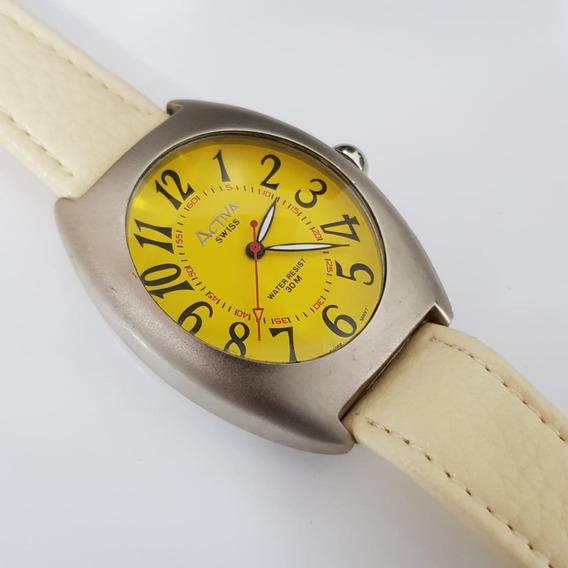 Relógio Masculino Activa Quartz Swiss Movement Amarelo