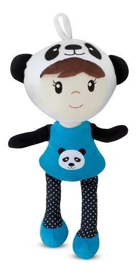 Boneca Doll Helena Ursinho Panda Bebê De Pano 40 Cm Pelúcia