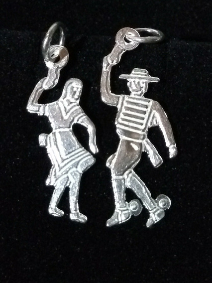 Paraje De Baile De Cueca, Huasos Chilenos, De Plata Fina 925