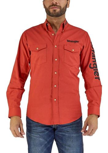 Imagen 1 de 6 de Camisa Vaquera Wrangler Hombre Manga Larga N01