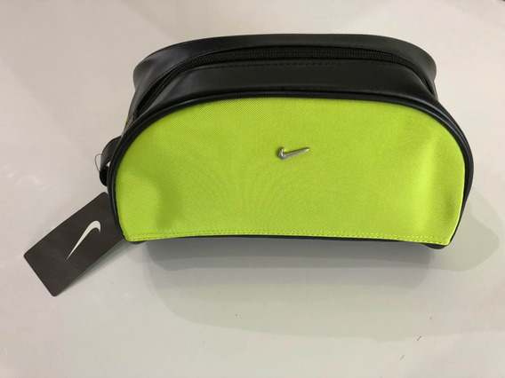 Bolsa Cartera Mariconera Nike Verde Limon Lona Y Tipo Piel