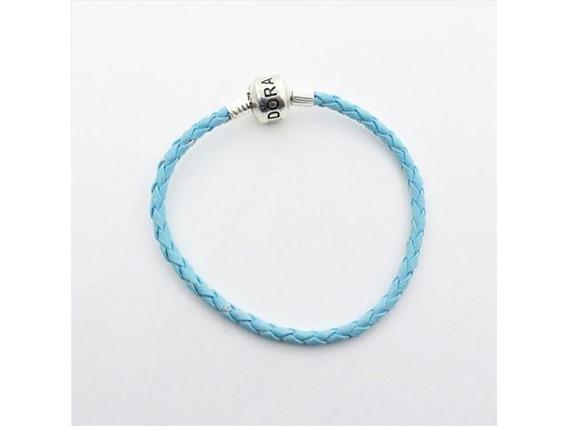 Pulseira Pandora Couro Azul